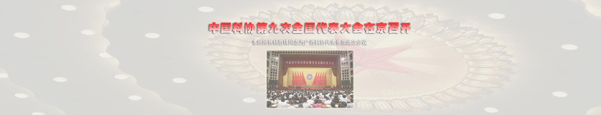 中国科协第九次全国代表大会在京召开